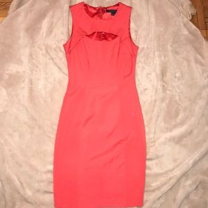 Brand NWOT orange French Connection bodycon dress